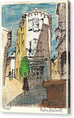 Uzes Provence Canvas Print