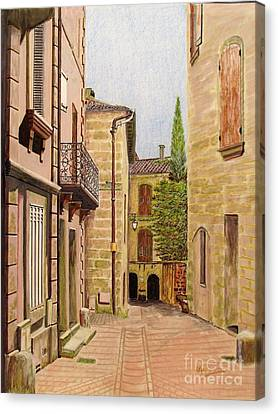 Uzes, South Of France Canvas Print by Olga Silverman