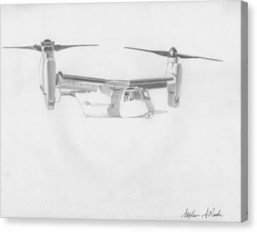 Osprey Canvas Print - V-22 Osprey Military Aircraft Art Print by Stephen Rooks