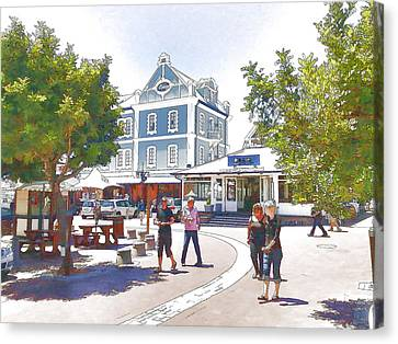 V And A Waterfront Cape Town Canvas Print by Jan Hattingh