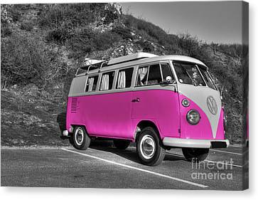 V-dub In Pink  Canvas Print by Rob Hawkins