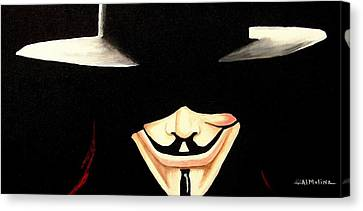 V For Vendetta Canvas Print