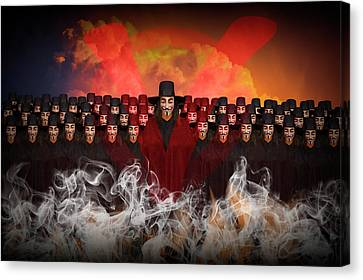 V For Vendetta Photographic Image Canvas Print by Randall Nyhof