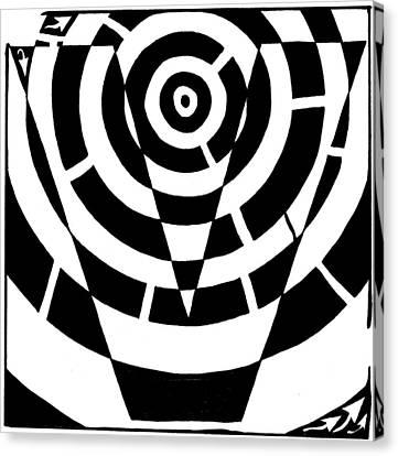 V Maze Canvas Print by Yonatan Frimer Maze Artist
