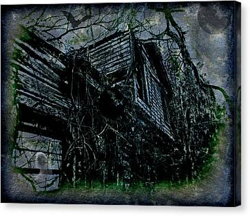Vacancy At The Inn Canvas Print by Leslie Revels Andrews