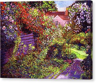 Stone Path Canvas Print -  Vacation Garden by David Lloyd Glover
