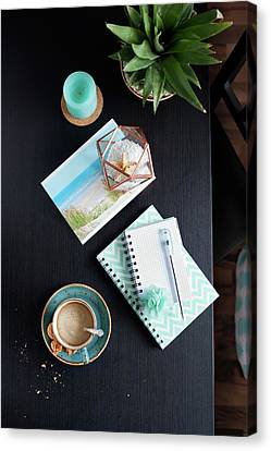 Capuccino Canvas Print - Vacation Plans By Svetlana Imagineisle Svphoto by Svetlana Imagineisle