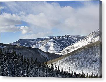 Vail Valley From Ski Slopes Canvas Print