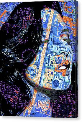Canvas Print featuring the mixed media Vain by Tony Rubino