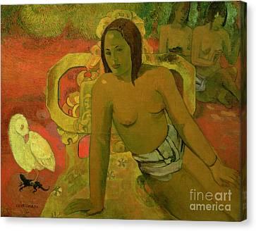 Vairumati Canvas Print by Paul Gauguin