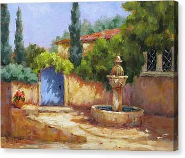Vaison La Fontaine Canvas Print