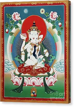 Bodhisattva Canvas Print - Vajrasattva Yuganadha  by Sergey Noskov