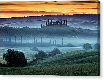 Val D'orcia Canvas Print by Evgeni Dinev
