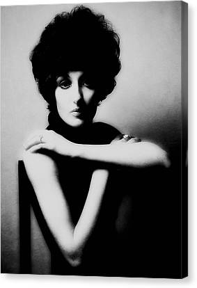 Canvas Print featuring the photograph Val With Chair by Richard Wiggins