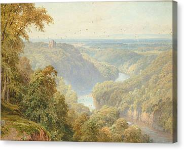 Vale Of Mowbray From Hackfall Canvas Print by Harry Sutton Palmer