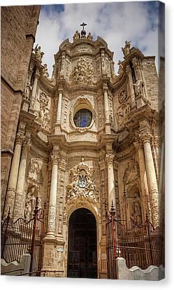 Valencia Cathedral Facade  Canvas Print