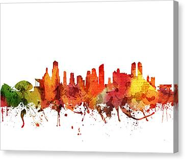 Valencia Cityscape 04 Canvas Print by Aged Pixel