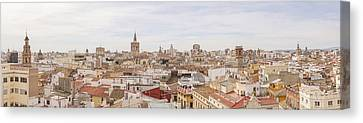 Valencia Panorama Canvas Print