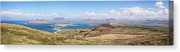 Valentia Island Countryside Panoramic Canvas Print