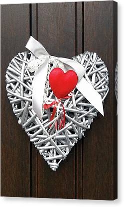 Canvas Print featuring the photograph Valentine Heart by Juergen Weiss