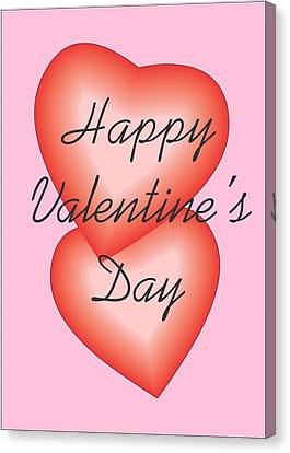 Canvas Print featuring the digital art Valentine Hearts by Sherril Porter