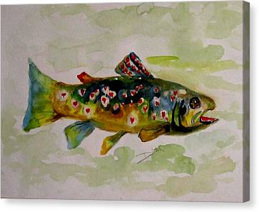 Valentine Trout Canvas Print by Delilah  Smith