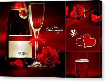 Valentine's Collage Photo Canvas Print