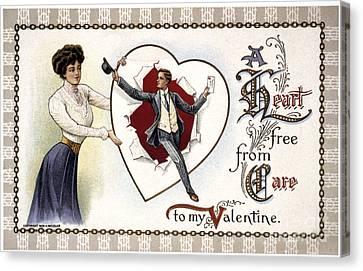 Aodng Canvas Print - Valentines Day Card, 1909 by Granger