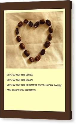 Culinary Canvas Print - Coffee Shop Hopping by Mary Ellen Frazee