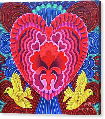 Valentine's With Birds Canvas Print