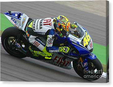 Valentino Rossi Canvas Print by Henk Meijer Photography
