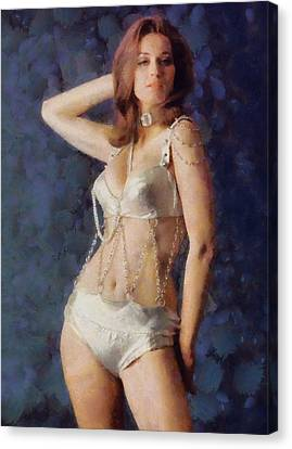 Valerie Leon, Carry On Actress Canvas Print