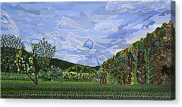 Valle Crucis 1 View From Herb Thomas Road Canvas Print by Micah Mullen