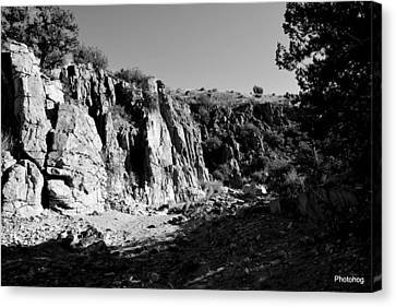 Valles Canyon Canvas Print by Adam Jones