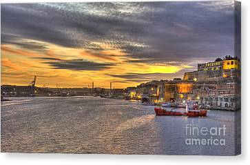 Valletta Grand Harbour Sunset  Canvas Print by Rob Hawkins