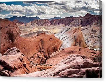Canvas Print featuring the photograph Valley Of Fire Expanse by Jason Moynihan