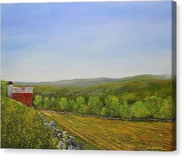 Valley Farm Canvas Print by Ken Ahlering