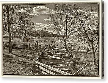 Valley Forge Military Camp Canvas Print by David Zanzinger