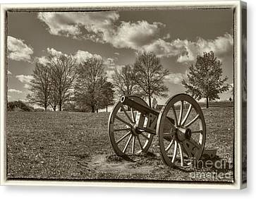 Valley Forge Military Canon Canvas Print by David Zanzinger