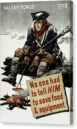 Valley Forge Soldier - Conservation Propaganda Canvas Print by War Is Hell Store