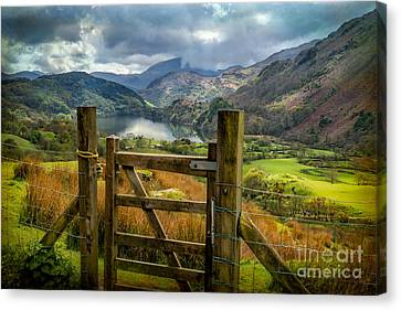 Park Scene Canvas Print - Valley Gate by Adrian Evans