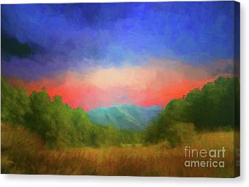 Valley In The Cove Canvas Print by Geraldine DeBoer