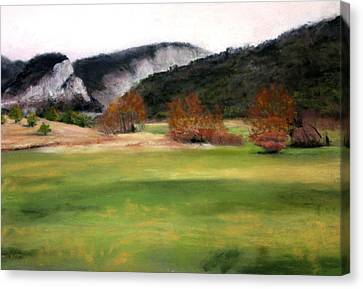 Valley Landscape Early Fall Canvas Print by Cindy Plutnicki