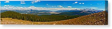 Valley Of 14ers Panorama Canvas Print by Jeremy Rhoades