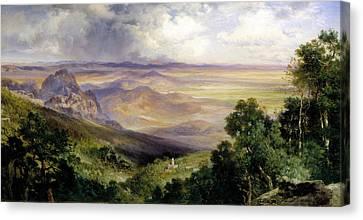 Moran Canvas Print - Valley Of Cuernavaca by Thomas Moran