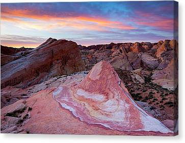 Canvas Print featuring the photograph Valley Of Fire Dawn  by Patrick Downey