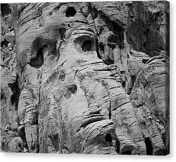 Valley Of Fire I Bw Canvas Print by David Gordon