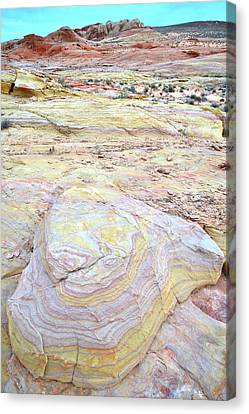 Canvas Print featuring the photograph Valley Of Fire Pastels by Ray Mathis