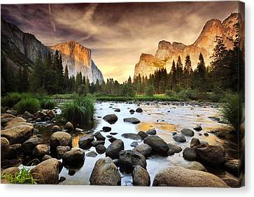 Tranquil Canvas Print - Valley Of Gods by John B. Mueller Photography