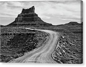 Canvas Print featuring the photograph Valley Of The Gods IIi Bw by David Gordon